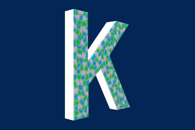 Mozaiekpakket Letter K Fris