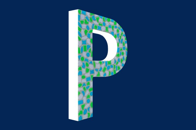 Mozaiekpakket Letter P Fris