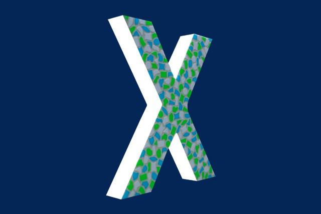 Mozaiekpakket Letter X Fris