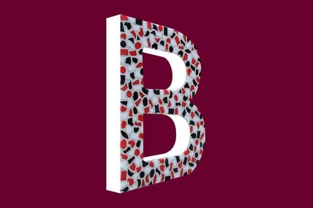 Mozaiekpakket Letter B Stoer