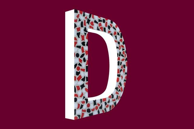 Mozaiekpakket Letter D Stoer