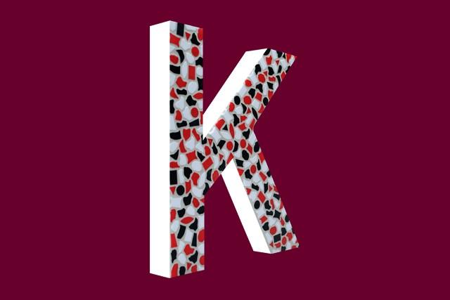 Mozaiekpakket Letter K Stoer