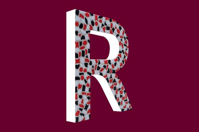 Mozaiekpakket Letter R Stoer