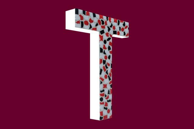 Mozaiekpakket Letter T Stoer