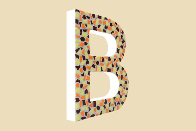 Mozaiekpakket Letter B Warm