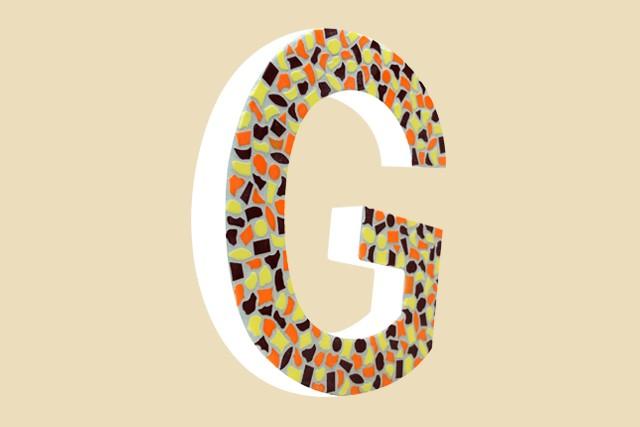 Mozaiekpakket Letter G Warm