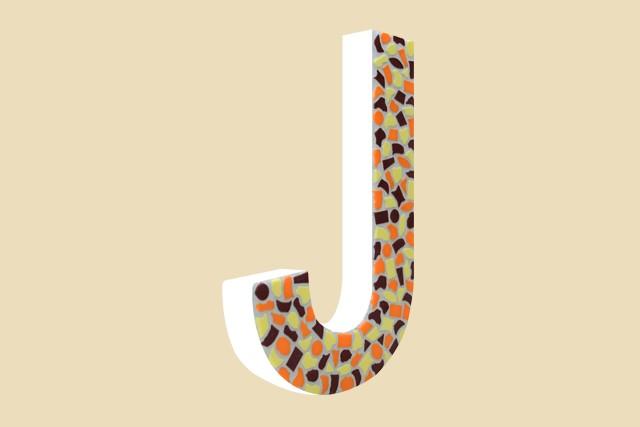 Mozaiekpakket Letter J Warm