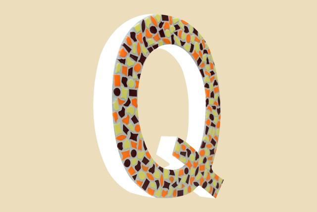 Mozaiekpakket Letter Q Warm
