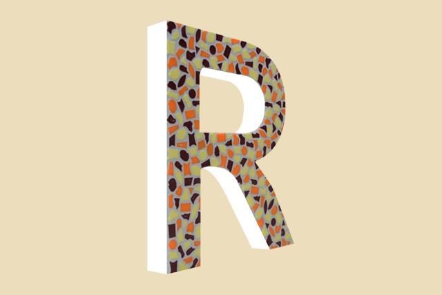 Mozaiekpakket Letter R Warm