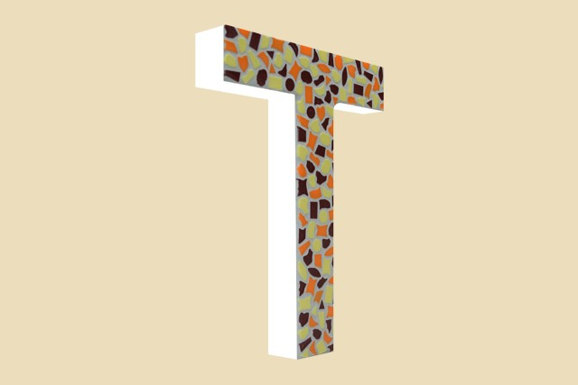 Mozaiekpakket Letter T Warm