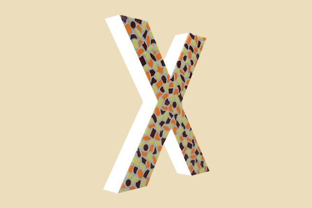 Mozaiekpakket Letter X Warm
