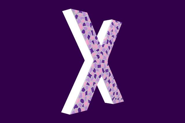 Mozaiekpakket Letter X Zacht