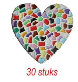 Hart 30 stuks mozaiekpakket