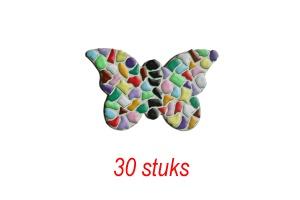 Vlinder 30 stuks mozaiekpakket