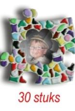 Mini-fotolijstjes 30 stuks Bloem mozaiekpakket MIX