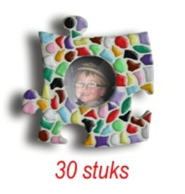 Mini-fotolijstjes 30 stuks Cirkel mozaiekpakket MIX