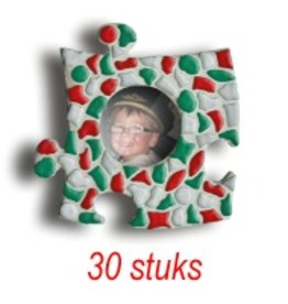 Mini-fotolijstjes 30 stuks Cirkel mozaiekpakket KERST