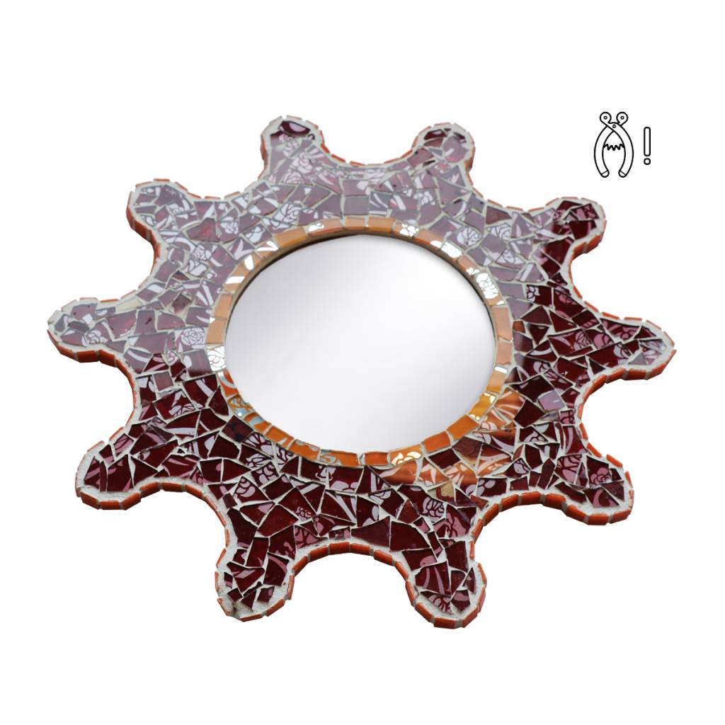 Compleet spiegel mozaiekpakket Zon