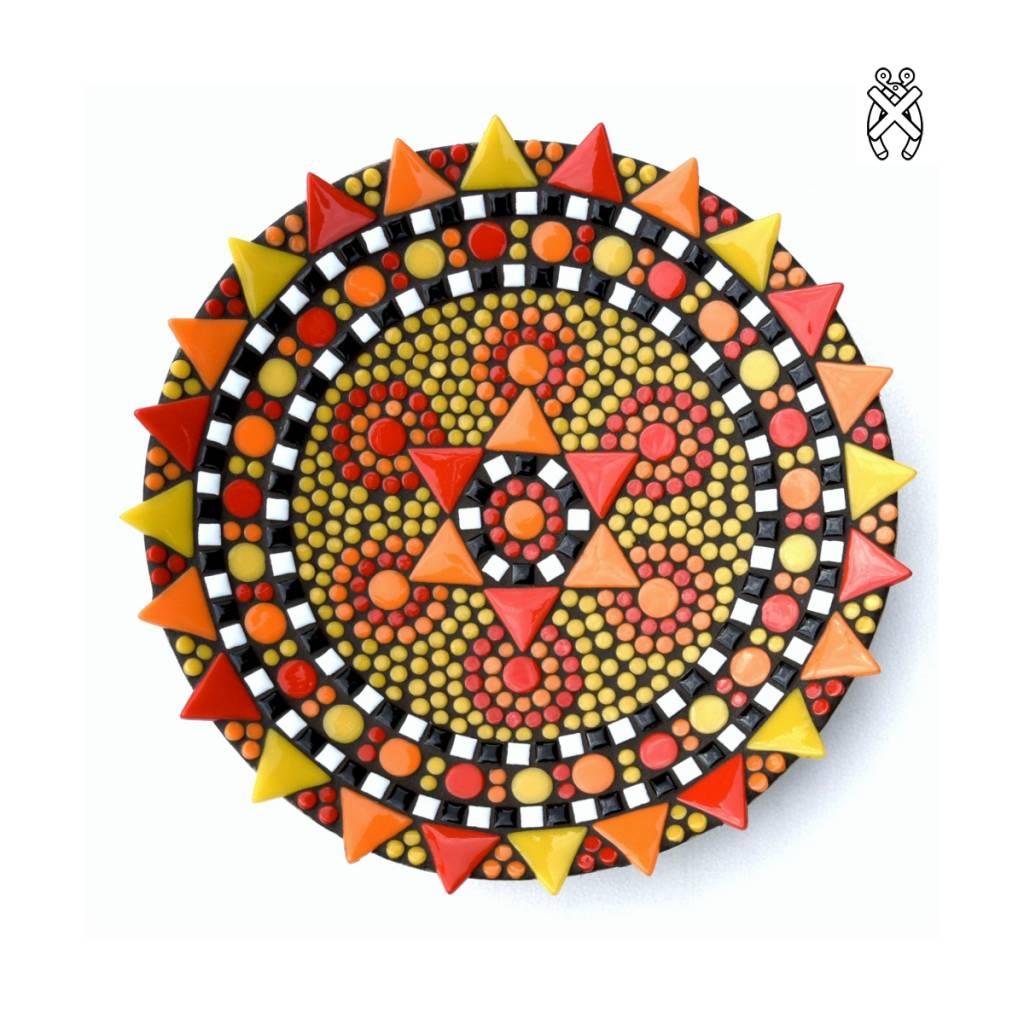 Mozaiek schaal Spetter oranje-rood