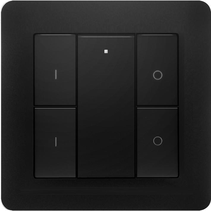 ED-10013 Draadloze schakelaar Zigbee 2 groepen zwart
