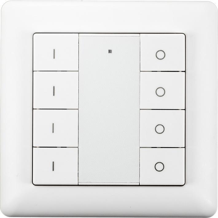 Draadloze schakelaar Z-Wave 4 groepen wit