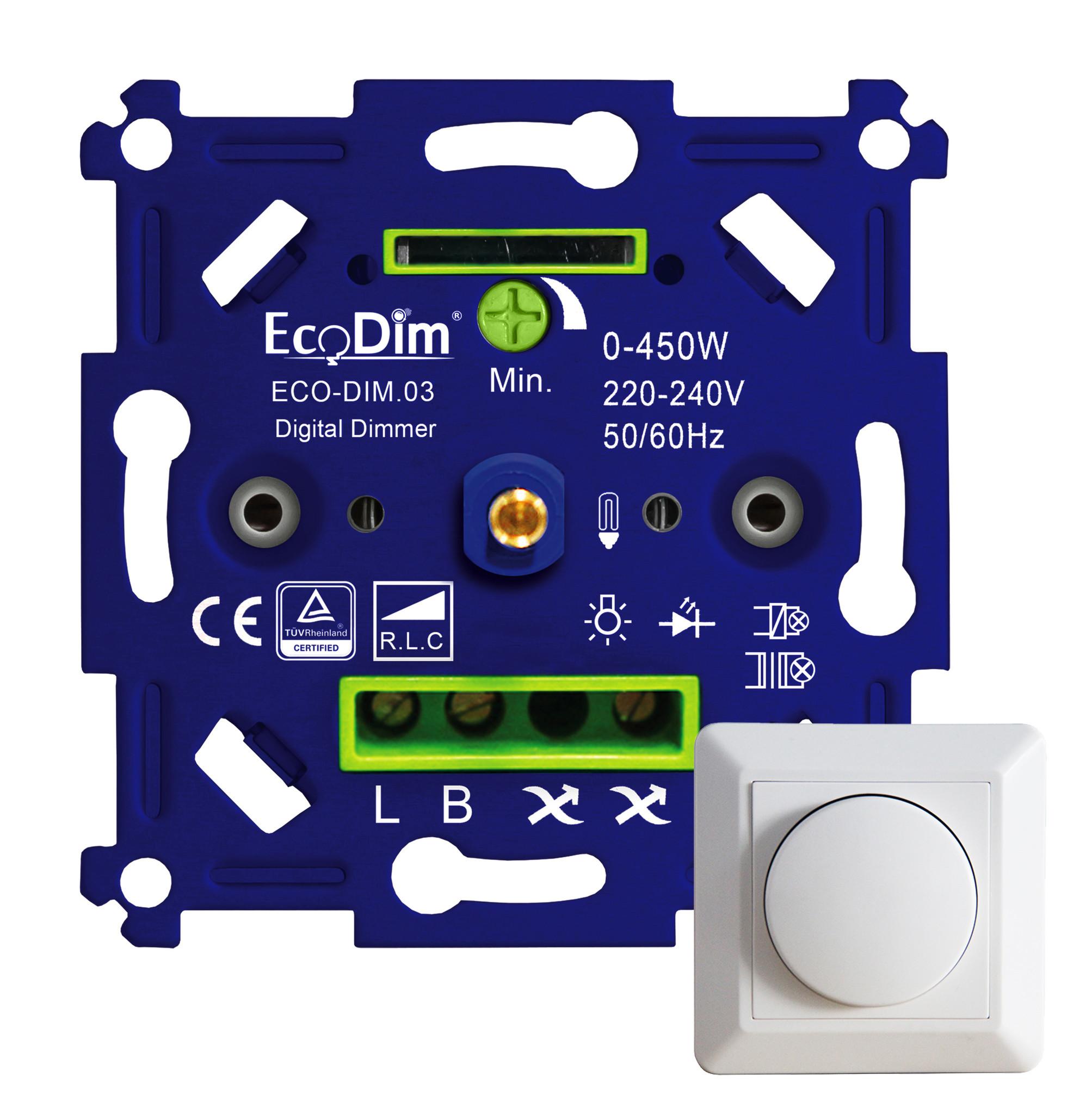 ECO-DIM.03: Blauw/groene krachtpatser  met 0-450W led aansluitvermogen!