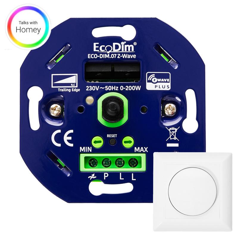 ECO-DIM.07 Led dimmer Z-Wave Pro druk/draai 0-200W