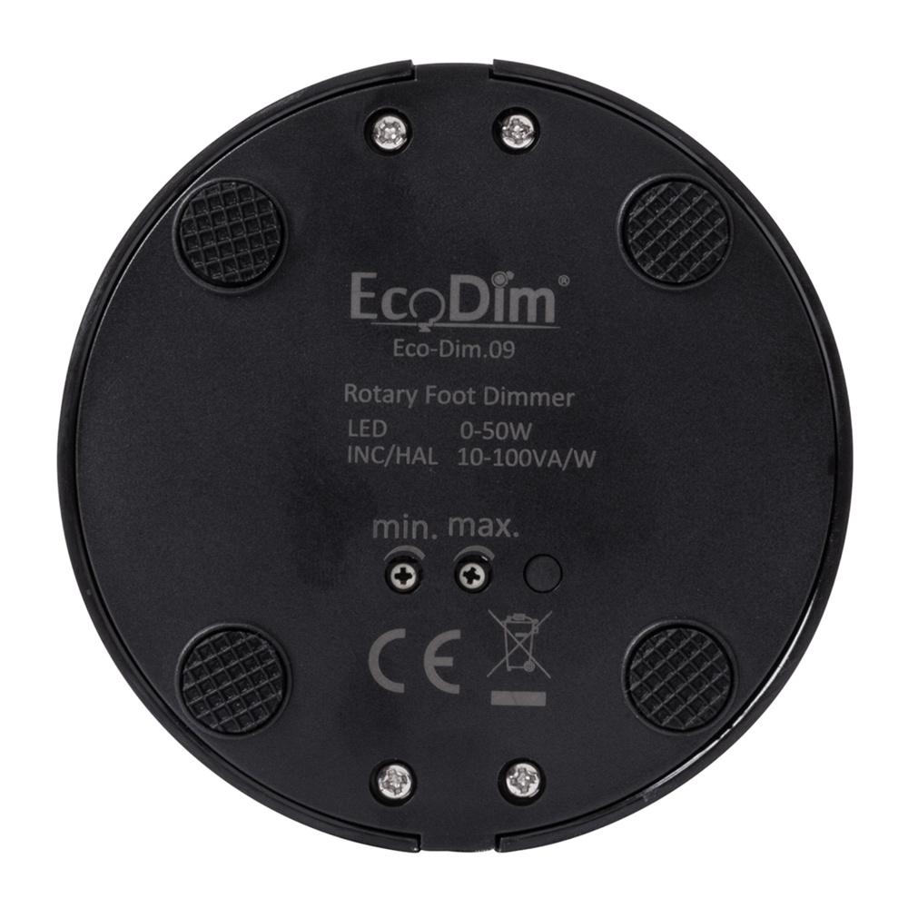 ECO-DIM.09 (B) Led vloerdimmer 0-50W zwart