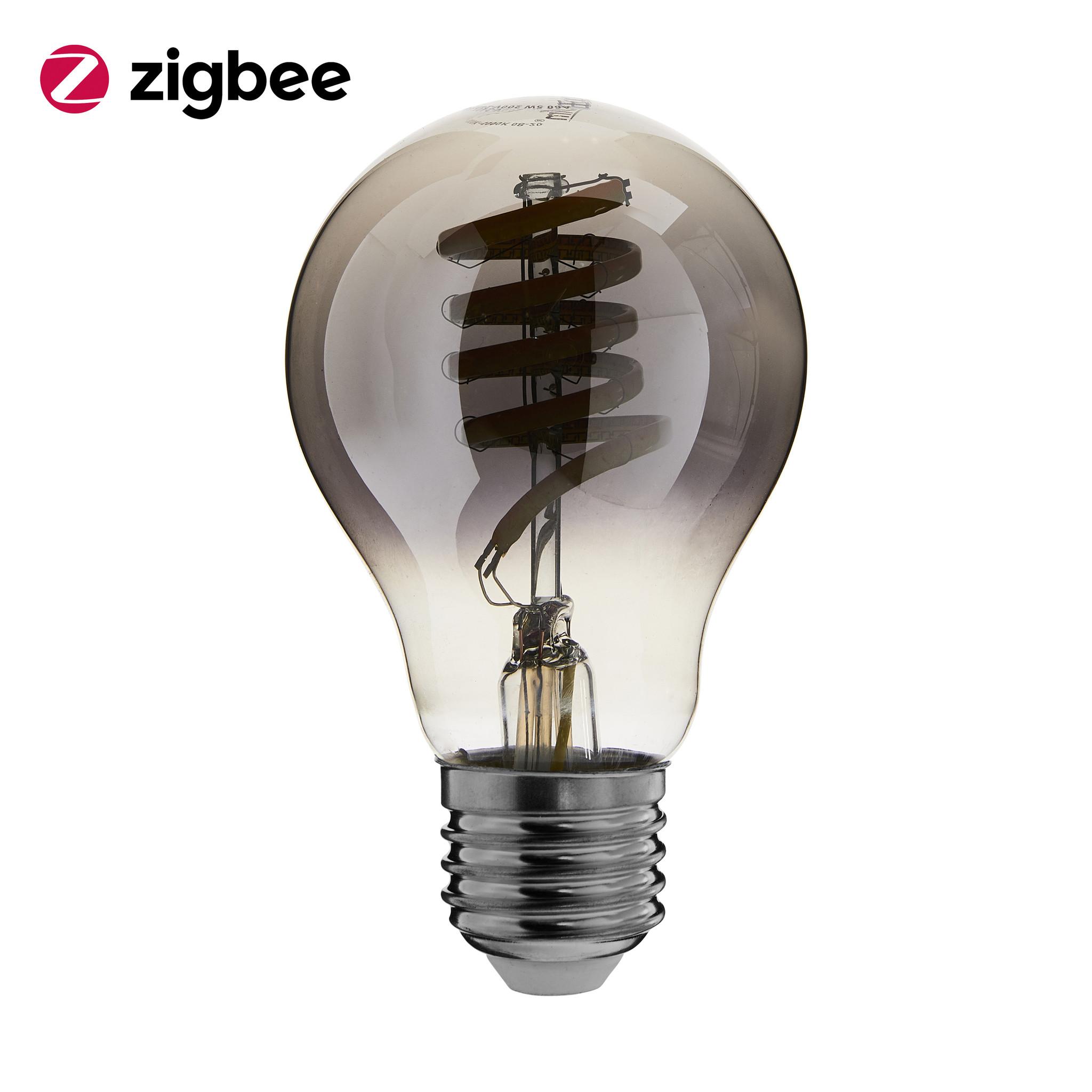 ED-10032 Zigbee led filament lamp dimbaar E27, bulb A60, Smokey 1800K-5000K