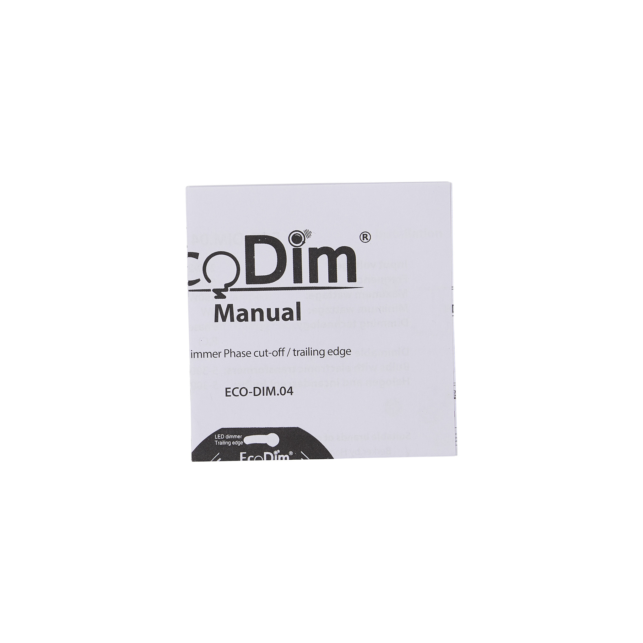 ECO-DIM.04 Led dimmer universeel 0-150W fase afsnijding (RC)