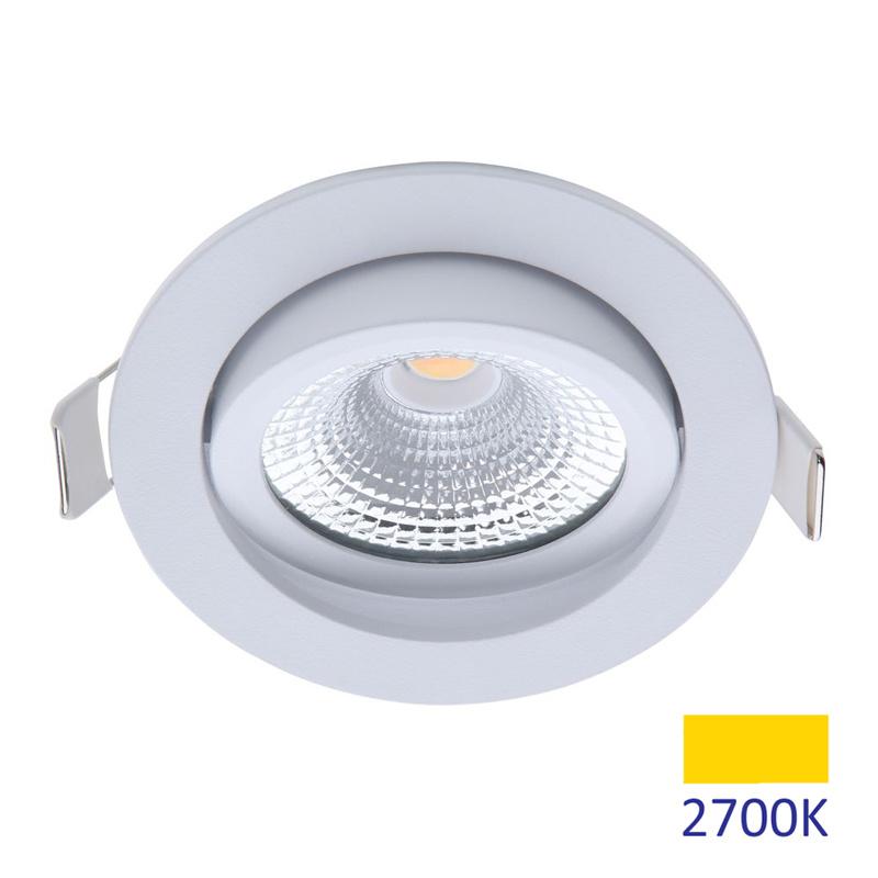 ED-10028 Led inbouwspot dimbaar kleine inbouwdiepte warm wit/2700K rond wit