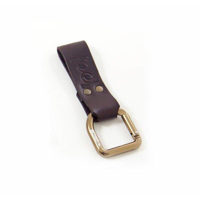 No.3 Dangler + belt loop -Donkerbruin