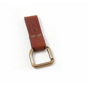 Casstrom No.3 Dangler + belt loop - Cognacbruin