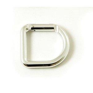 Casstrom D-Ring Karabiner - zilverkleur