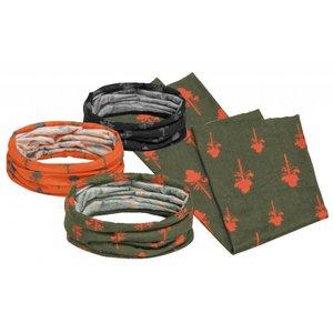 Pinewood Hoofdsjaal 3-pack - Oranje/Groen/Zwart