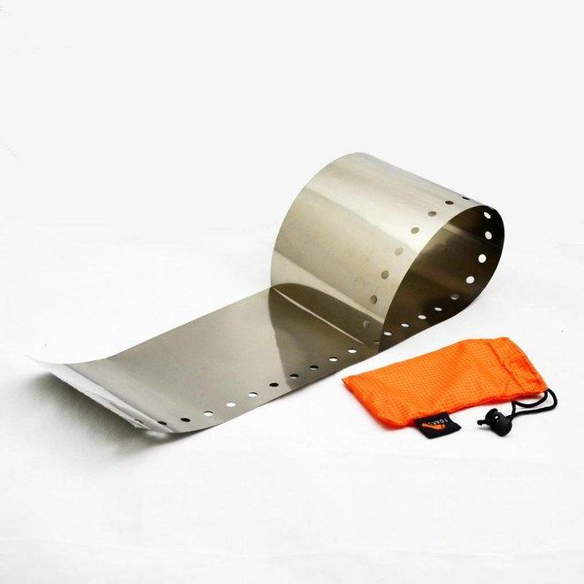 Titanium Windscherm Voor Brander