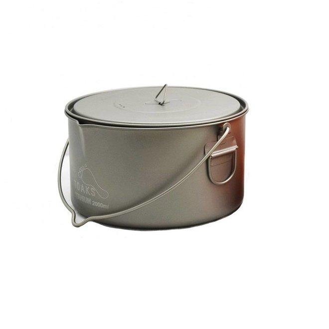 Titanium 2000ml Pan - Met Hengsel