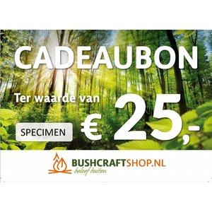 Bushcraftshop Cadeaubon twv € 25,-