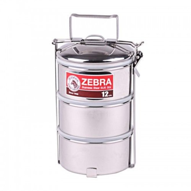Stainless Steel-Food Carrier 12cm x 3 layers