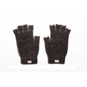 Weft Possum/Merino Handschoenen - Korte Vingers - Black Marl
