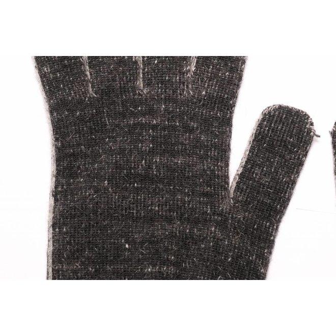 Possum/Merino Handschoenen - Lange Vingers - Black Marl