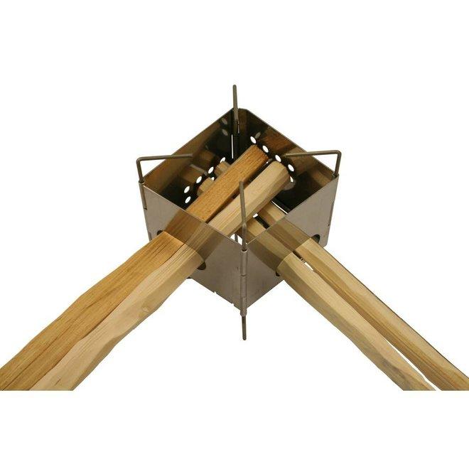 "Folding Firebox 3"" Stainless Steel Nano Stove"
