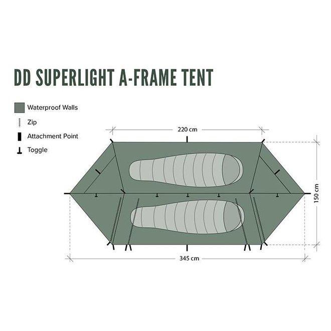 Superlight A-Frame Tent