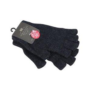 Weft Possum/Merino Handschoenen - Korte Vingers - Black Charcoal