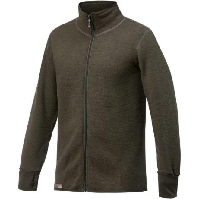 Merino Mid Layer Full Zip Jacket 600 - Pine Green
