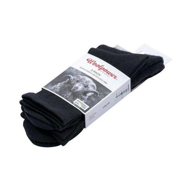 2-Pack: Liner Sock / Sock 400 - Zwart