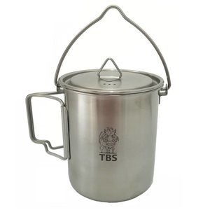 TBS Outdoor 750ml RVS Billycan / Beker met Hengsel