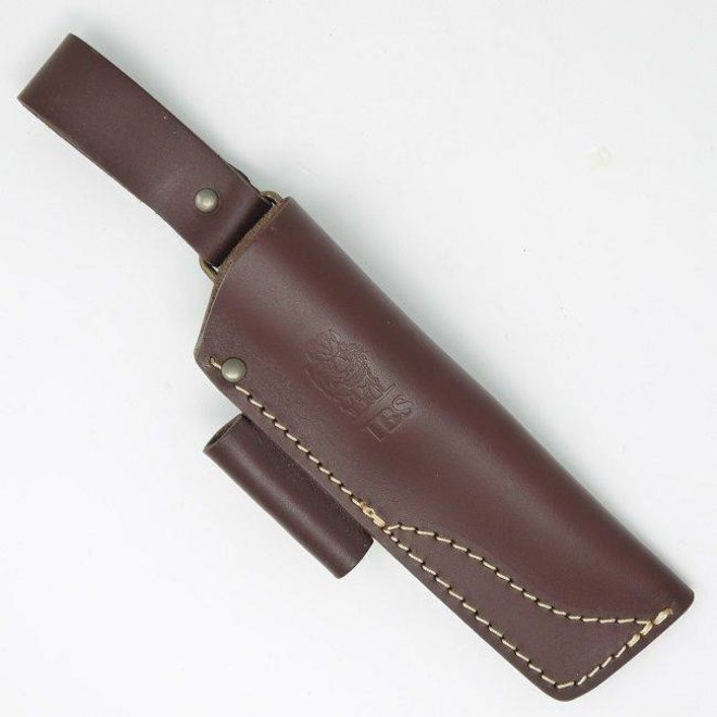 Leather Nordic Dangler Type Sheath with Firesteel Attachment - Small