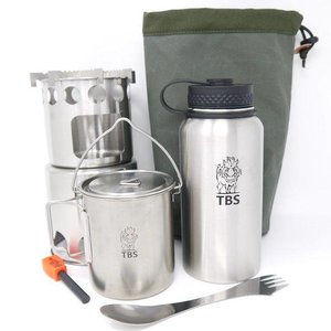 TBS Outdoor Wilderness Salamander Kook Set - Enkelwandige Fles