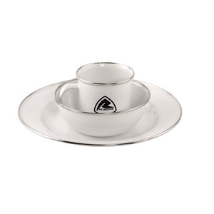 Robens Tongass Emaille Servies Set 1 Persoons